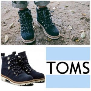 NEW TOMS Summit Suede Waterproof Navy Hiking Boots